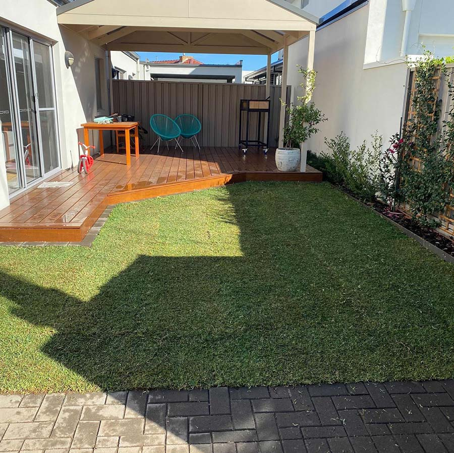 Grange – from paving to garden - Before