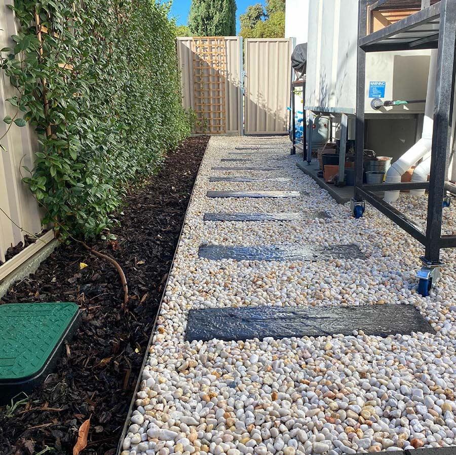 Grange – from paving to garden - During